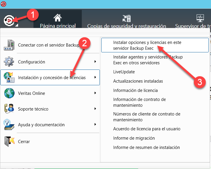 Agregando Licencias a Veritas Backup EXEC 16, [Backup EXEC 16] – Agregando Licencias a Veritas Backup EXEC 16., ElCegu
