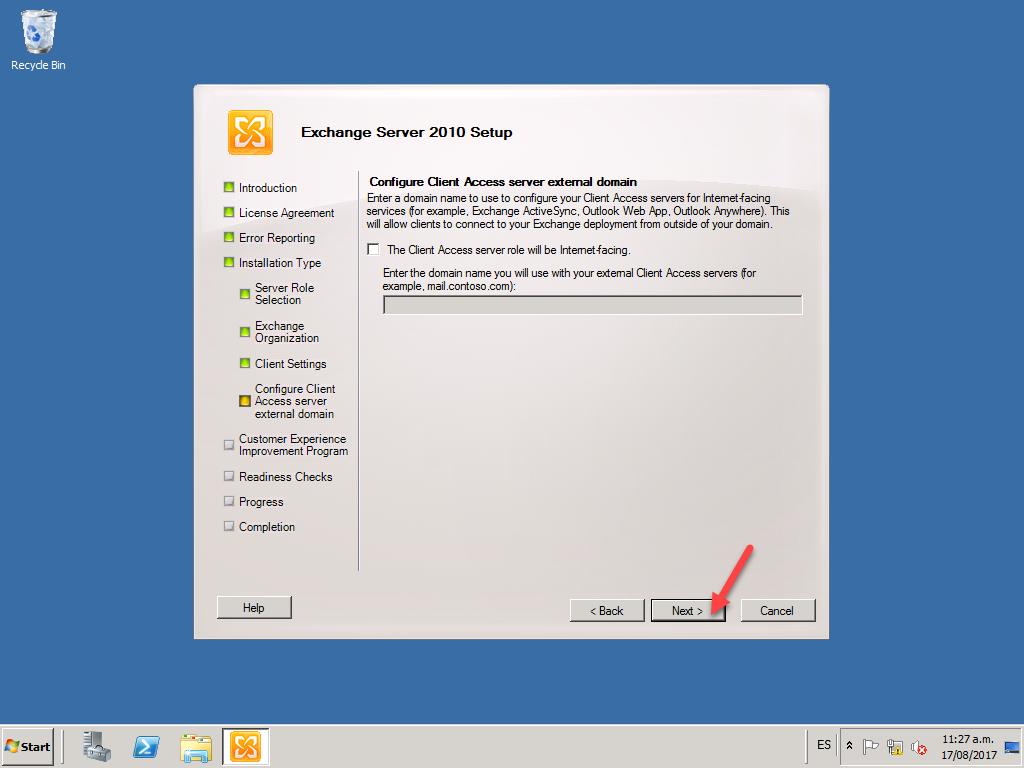 Instalando Exchange Server 2010 SP1, [Windows Server 2008 R2] – Instalando Exchange Server 2010 SP1, ElCegu