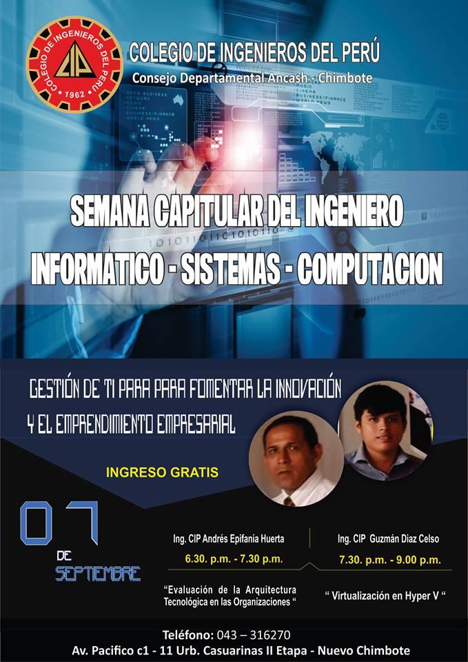 SEMANA CAPITULAR DEL INGENIERO INFORMÁTICO - SISTEMAS, SEMANA CAPITULAR DEL INGENIERO INFORMÁTICO – SISTEMAS – COMPUTACIÓN2017, ElCegu, ElCegu