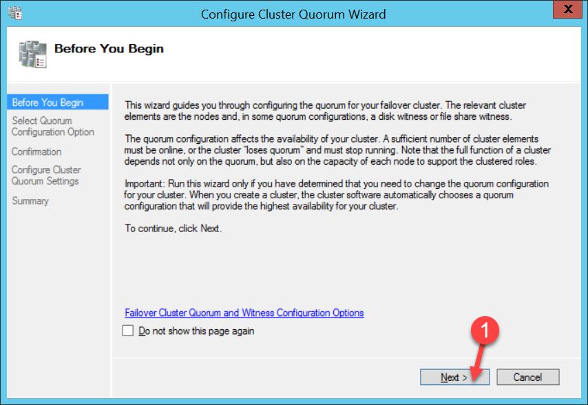 Cambiar configuración del disco de Quorum, [Windows Server 2012 R2] – Cambiar configuración del disco de Quorum., ElCegu