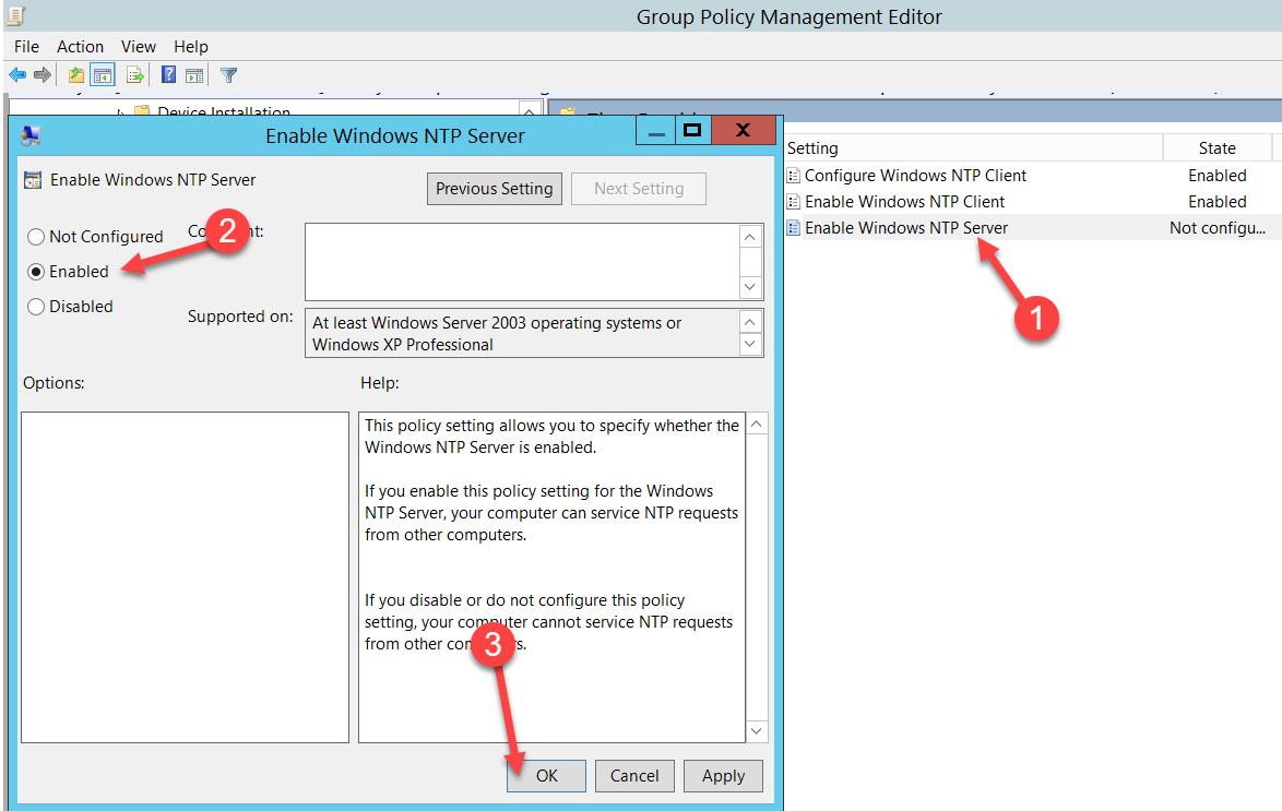Configuración del NTP Client en el Directorio Activo usando GPO, [Windows Server 2012 R2] – Configuración del NTP Client en el Directorio Activo usando GPO., ElCegu, ElCegu