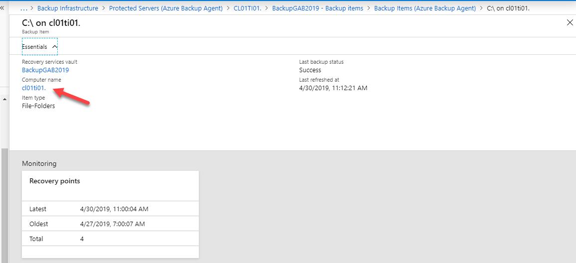 Inconveniente con Máquinas registradas en el portal con Azure Backup Agent, [Azure] – Inconveniente con Máquinas registradas en el portal con Azure Backup Agent., ElCegu, ElCegu