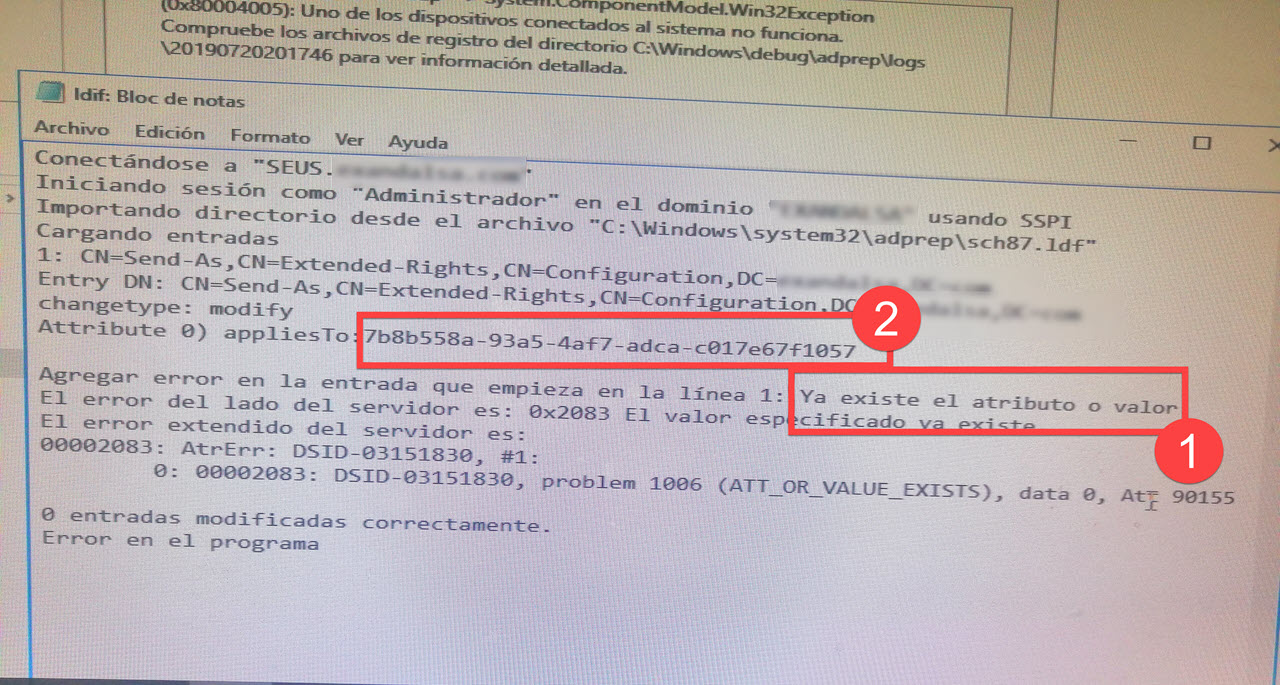Error unir controlador Dominio 0x80004005., [Windows Server 2016] – Error al unir controlador de Dominio: 0x80004005., ElCegu, ElCegu