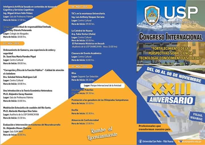 Congreso Internacional de Tecnologia USP Huaraz, Congreso Internacional – «Fortalecimiento de las Perspectivas sobre Ciencia, Tecnologia, Conocimiento y Sociedad», ElCegu, ElCegu