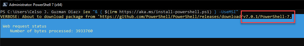 PowerShell 7, [PowerShell] – Actualizar PowerShell 7, ElCegu, ElCegu