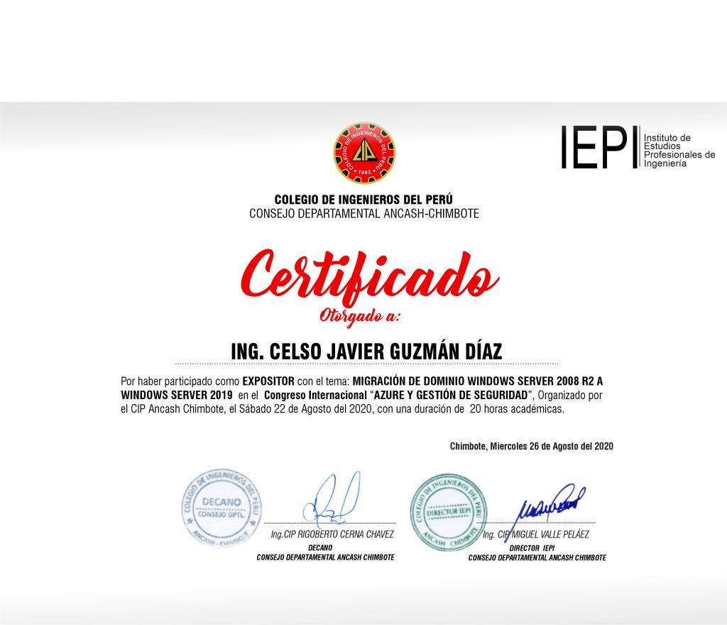, Congreso Internacional – Azure y Gestión de Seguridad., ElCegu
